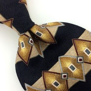 Diamond GOLD Silk Men Designer Necktie Ties